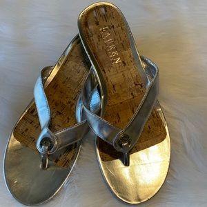 Metallic Silver Lauren Ralph Lauren Sandals